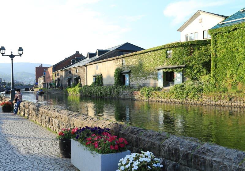 Het kanaal van Otaru in de zomer royalty-vrije stock foto