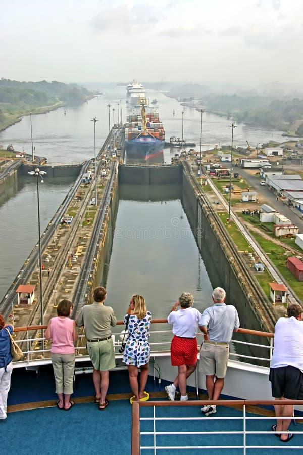 Het Kanaal van Panama stock foto's