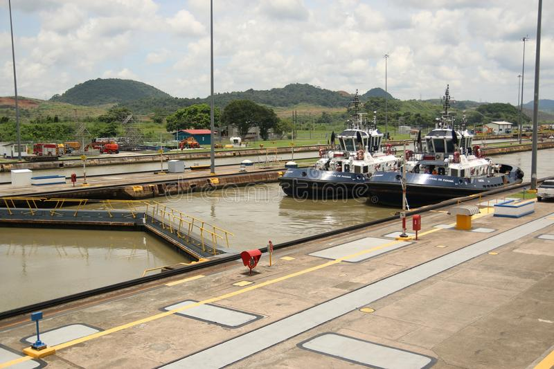 Het Kanaal van Panama, Miraflores, Panama stock foto