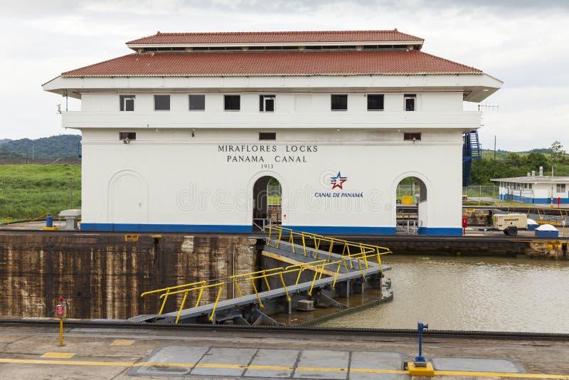 Het Kanaal van Panama van de Mirafloreswaterkering stock afbeeldingen