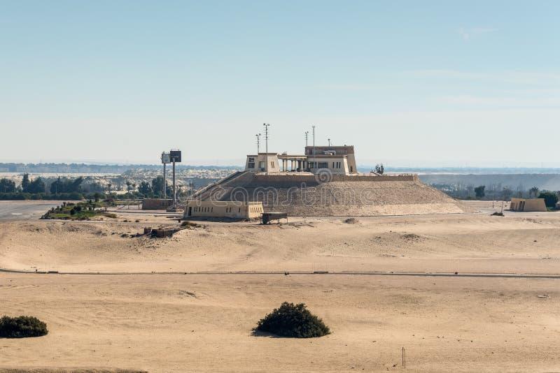 Het Kanaal van Suez in Ismailia, Egypte stock afbeelding