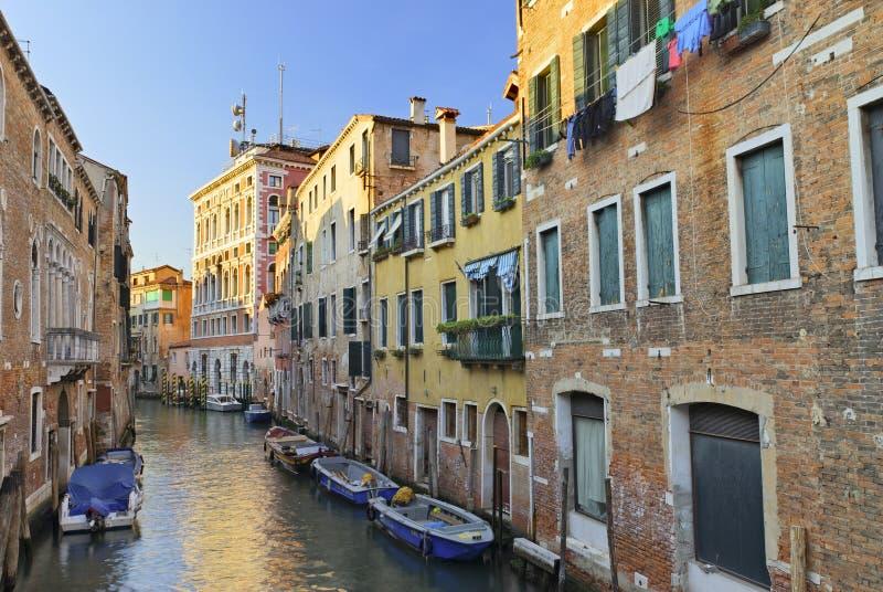 Het kanaal van Venetië stock afbeelding