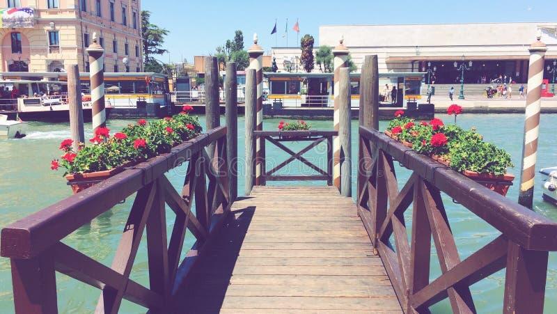 Het kanaal van Venetië Italië stock foto
