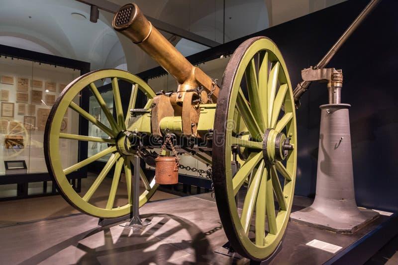 Het kanon die van het Reffye mitrailleuse salvo van 1869 dateren royalty-vrije stock fotografie