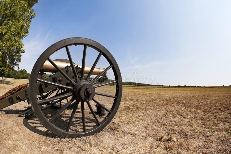 Het Kanon van de Burgeroorlog stock foto