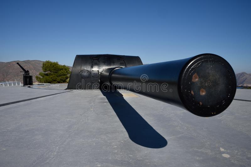 Het kanon van de kustartillerie stock foto