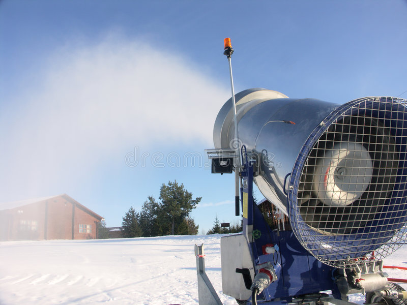 Het kanon van de sneeuw stock foto's