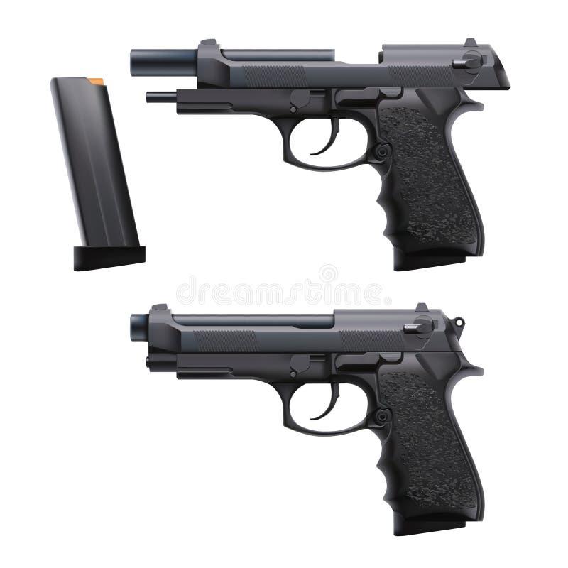Het kanon van de twee voorwaardenhand stock illustratie