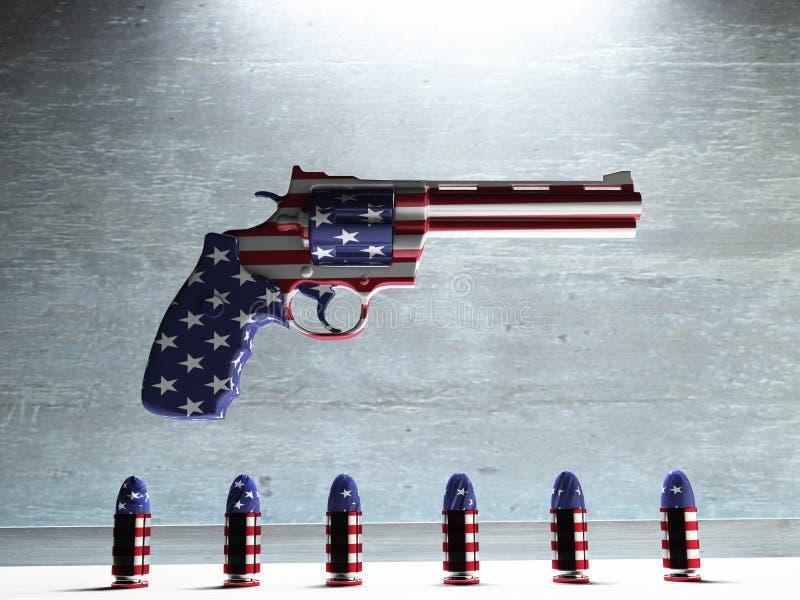 Het Kanon van de V.S. stock illustratie