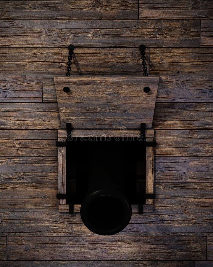 Het Kanon van het schip royalty-vrije illustratie