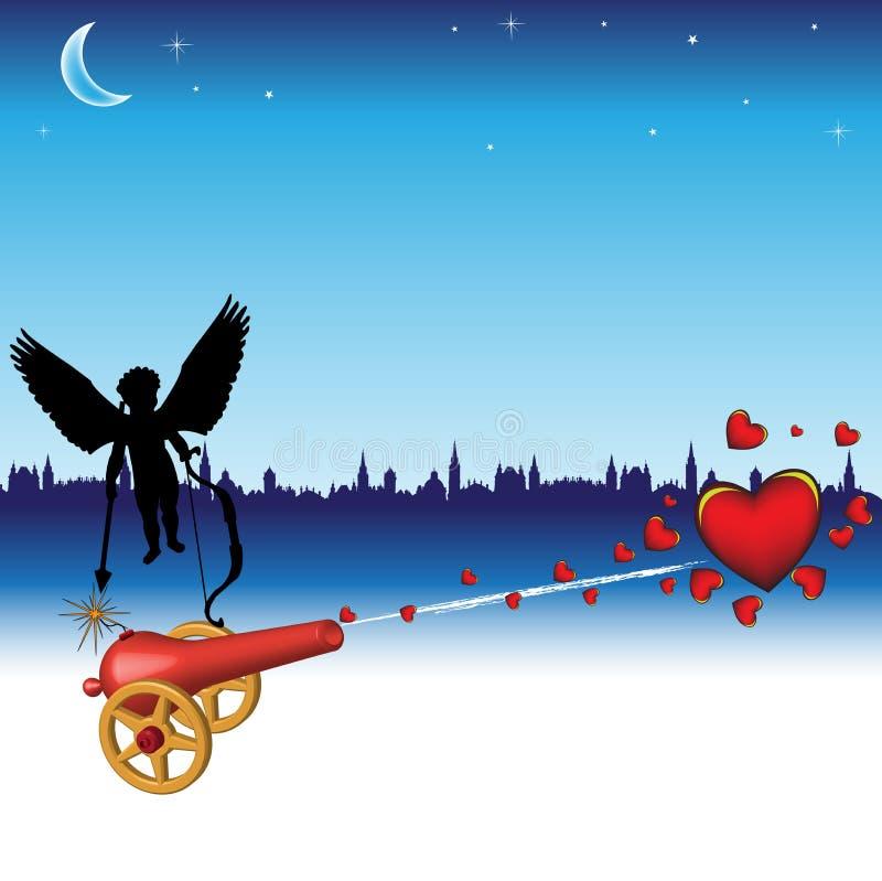 Het kanon van liefde vector illustratie