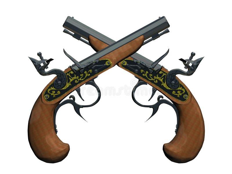 Het kanon van piraten vector illustratie