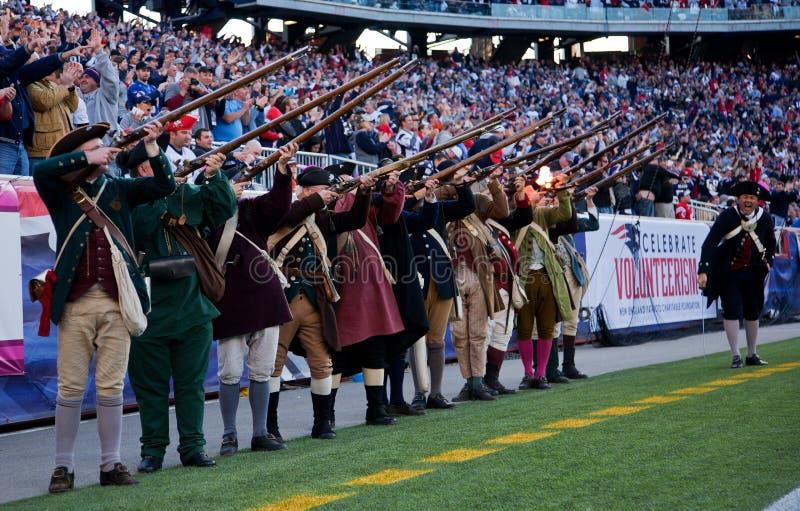 Het kanonbegroeting van patriotten royalty-vrije stock foto