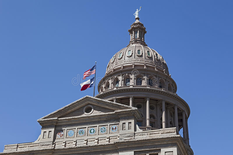 Het Kapitaal van de staat van Texas-Austin stock afbeelding