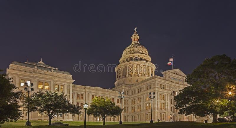 Het Kapitaal van de staat van Texas bij Nacht royalty-vrije stock foto