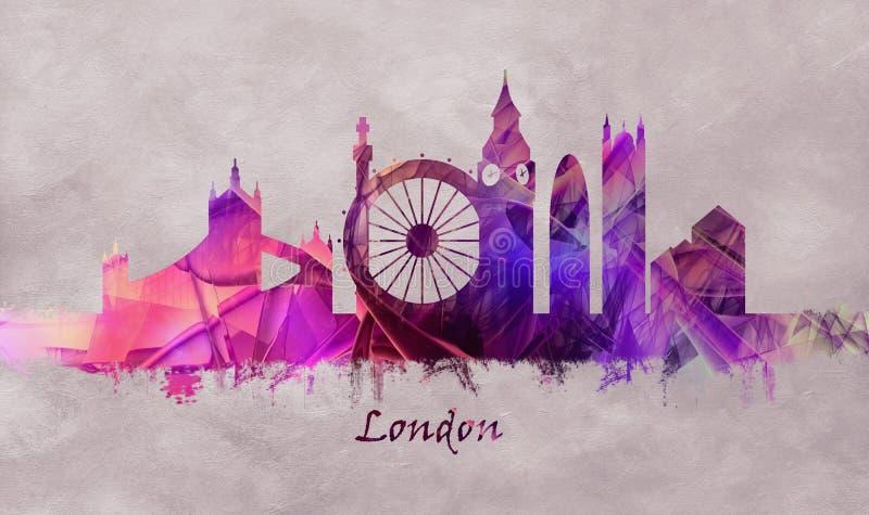 Het Kapitaal van Londen van Engeland, Horizon royalty-vrije illustratie
