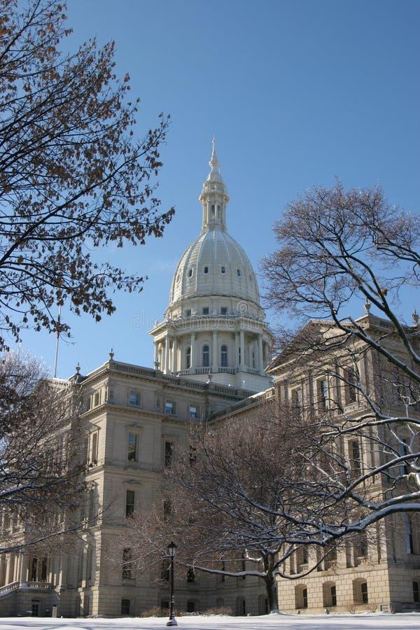 Het Kapitaal van Michigan stock foto's
