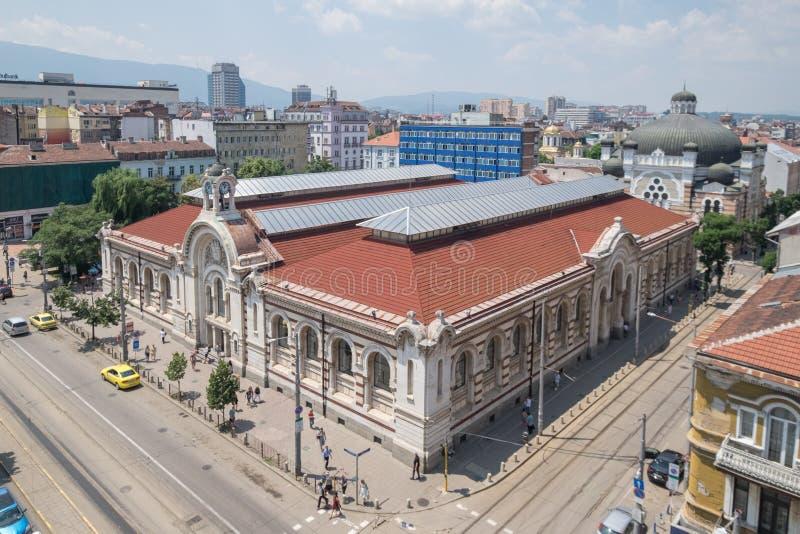 Het kapitaal van Sofia, Bulgarije de stad in stock foto's