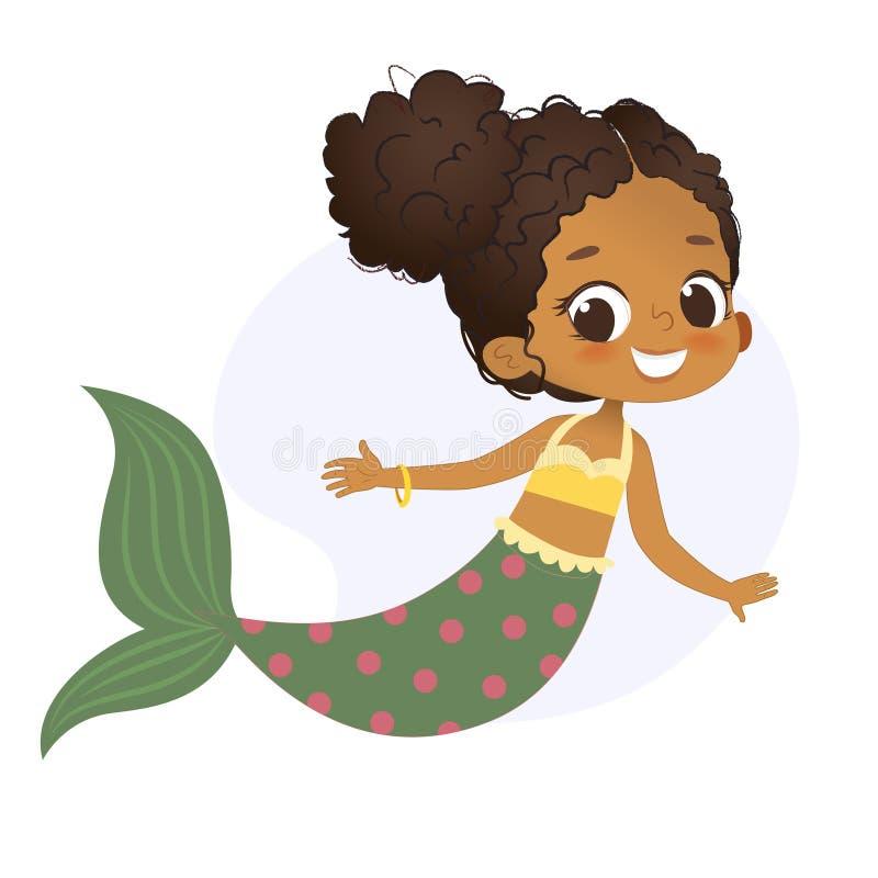 Het Karakter Mythisch Meisje van meerminafro Weinig Nimf royalty-vrije illustratie