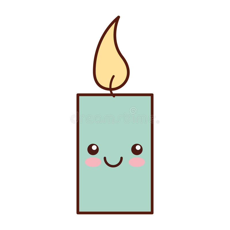 Het karakter van aromatherapy candle spa kawaii stock illustratie