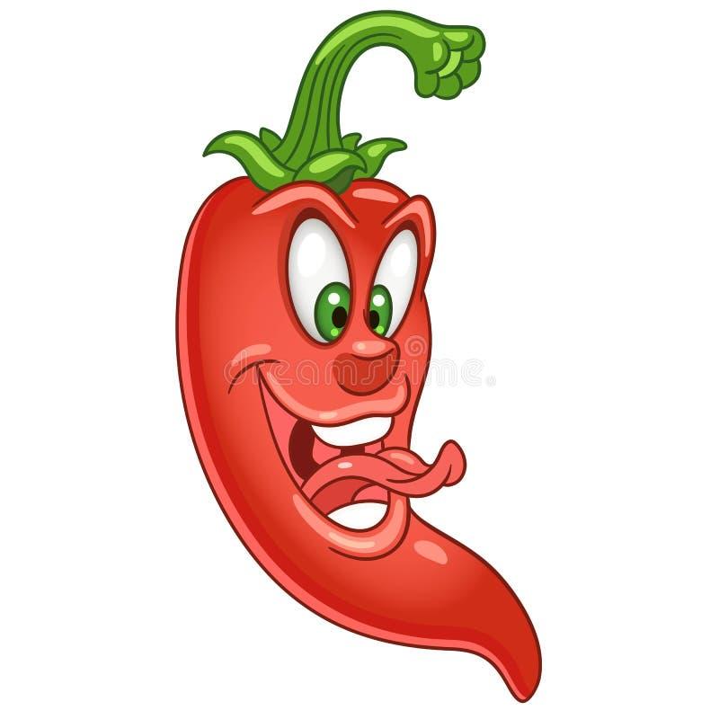 Het karakter van beeldverhaalchili pepper stock illustratie