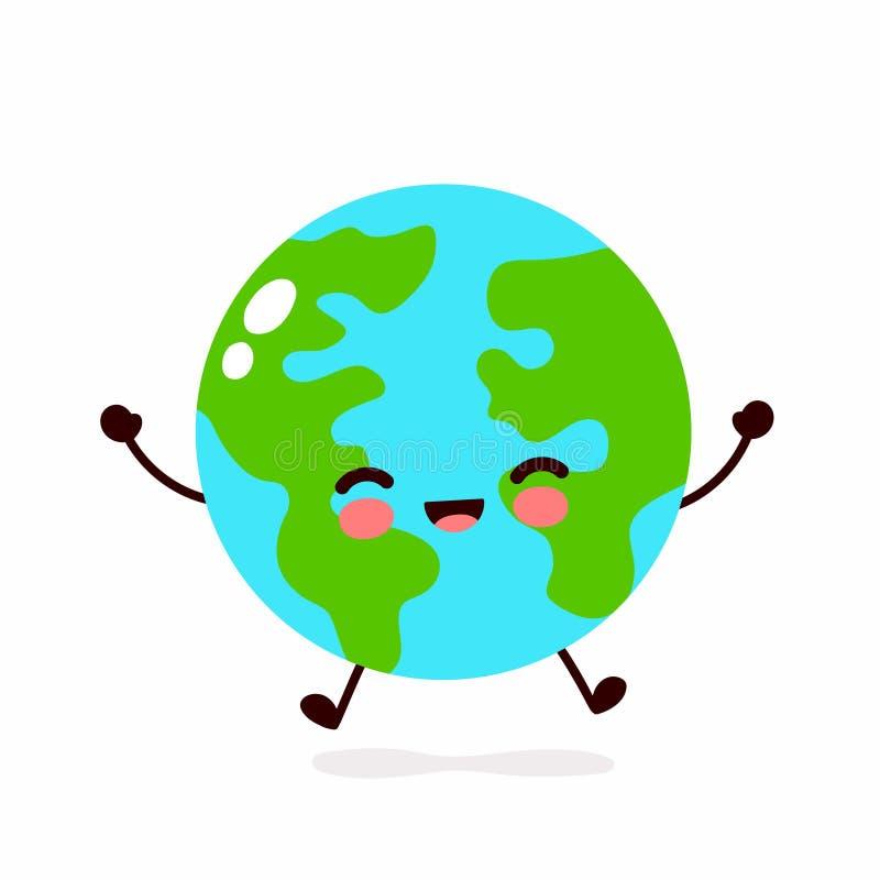 Het karakter van de aardeplaneet Vectorhand royalty-vrije illustratie