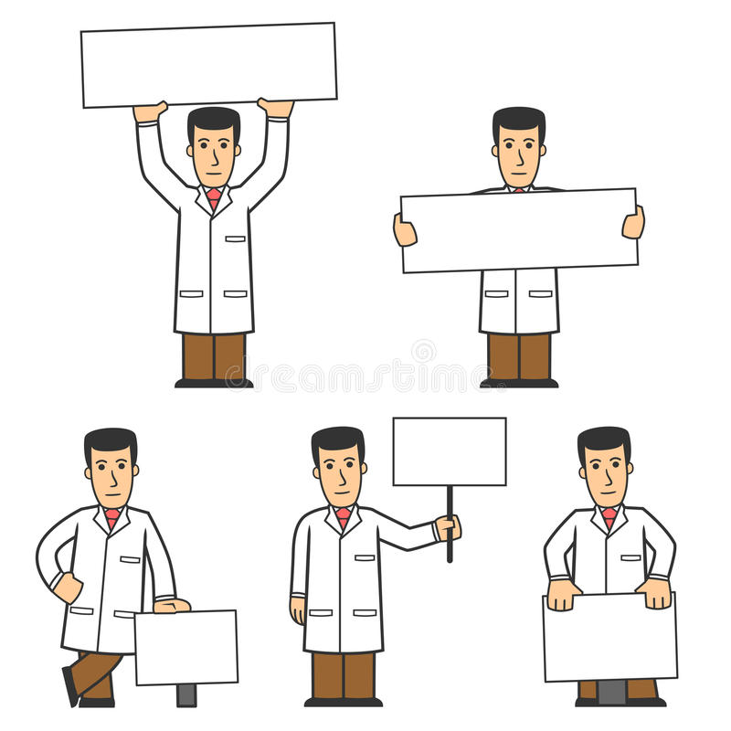 Het karakter van de arts - reeks 02 vector illustratie
