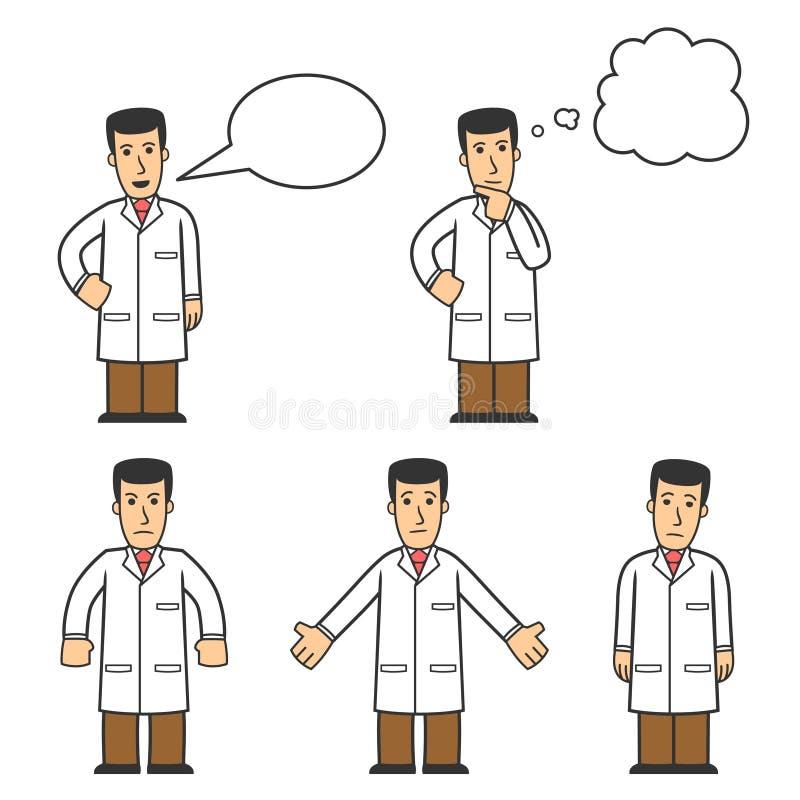 Het karakter van de arts - reeks 04 vector illustratie