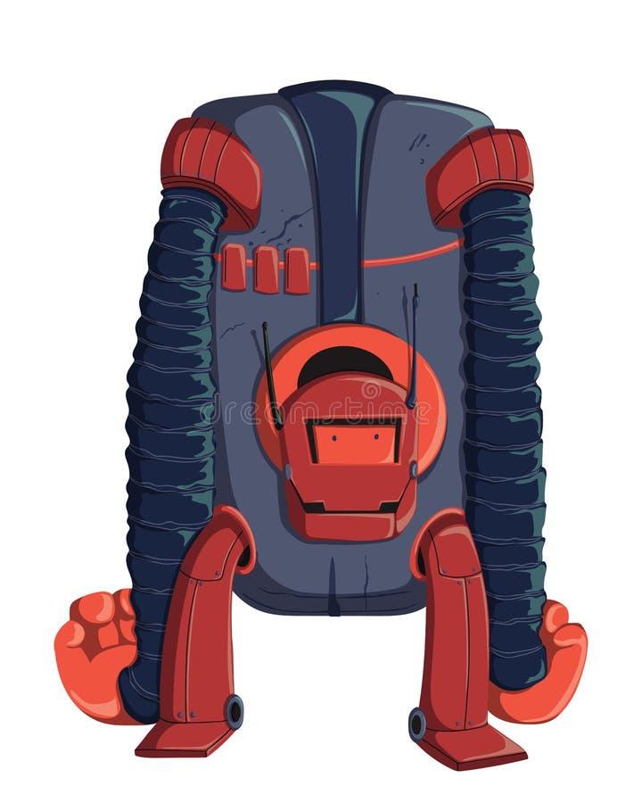 Het karakter van de beeldverhaalrobot Technologie, toekomst Het Concept van het kunstmatige intelligentieontwerp Ge?soleerdj op w stock illustratie