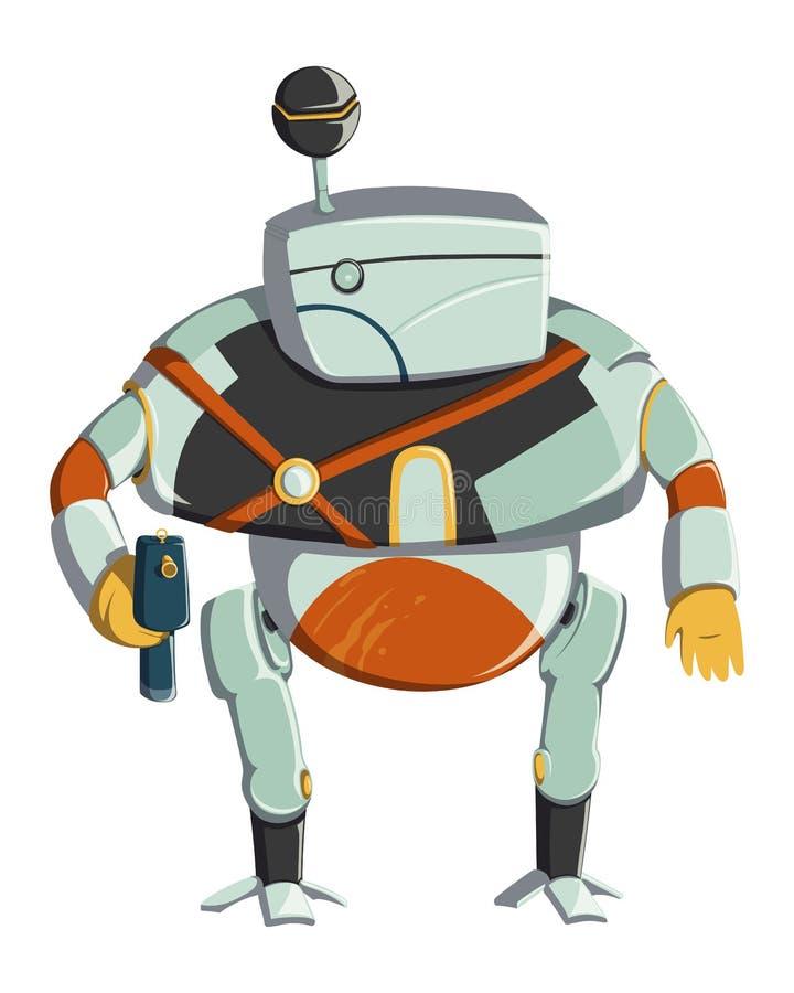 Het karakter van de beeldverhaalrobot Technologie, toekomst Het Concept van het kunstmatige intelligentieontwerp Ge?soleerdj op w royalty-vrije illustratie