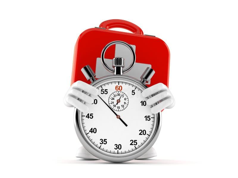 Het karakter van de eerste hulpuitrusting met chronometer royalty-vrije illustratie