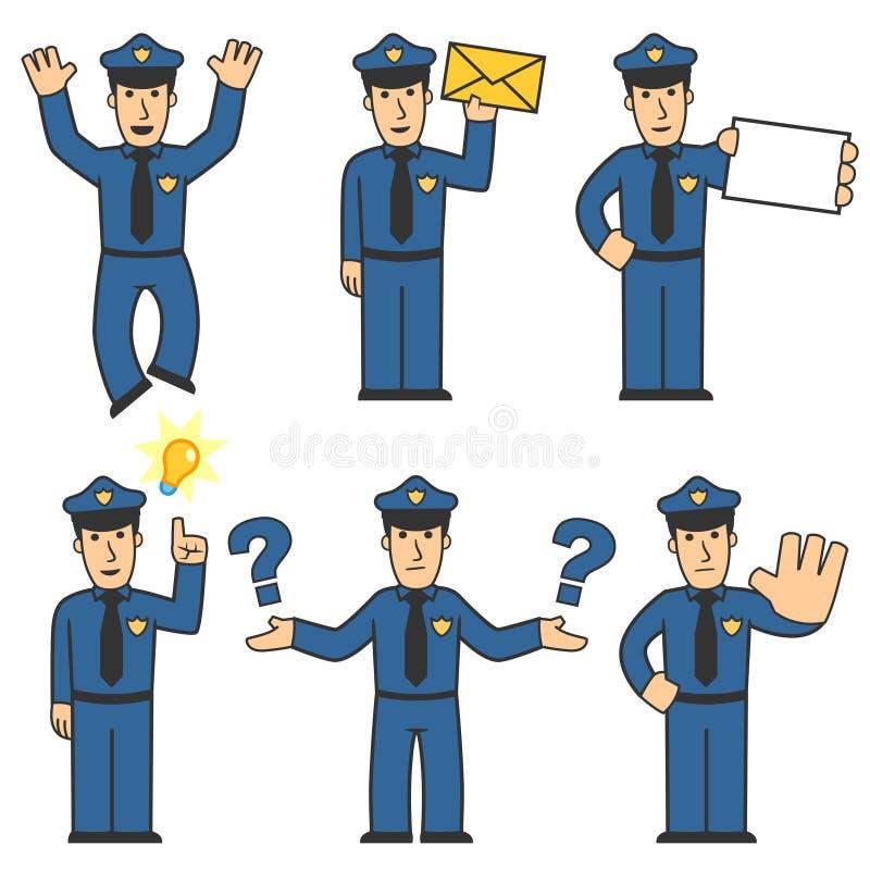 Het karakter van de politie - reeks 05 royalty-vrije illustratie