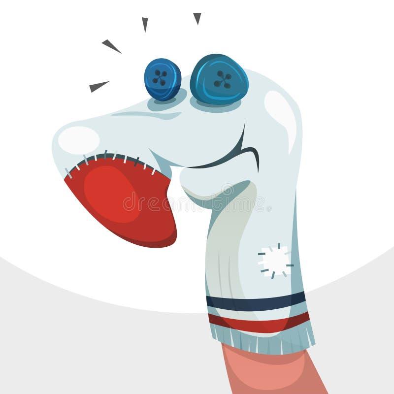Het Karakter van de sokmarionet vector illustratie