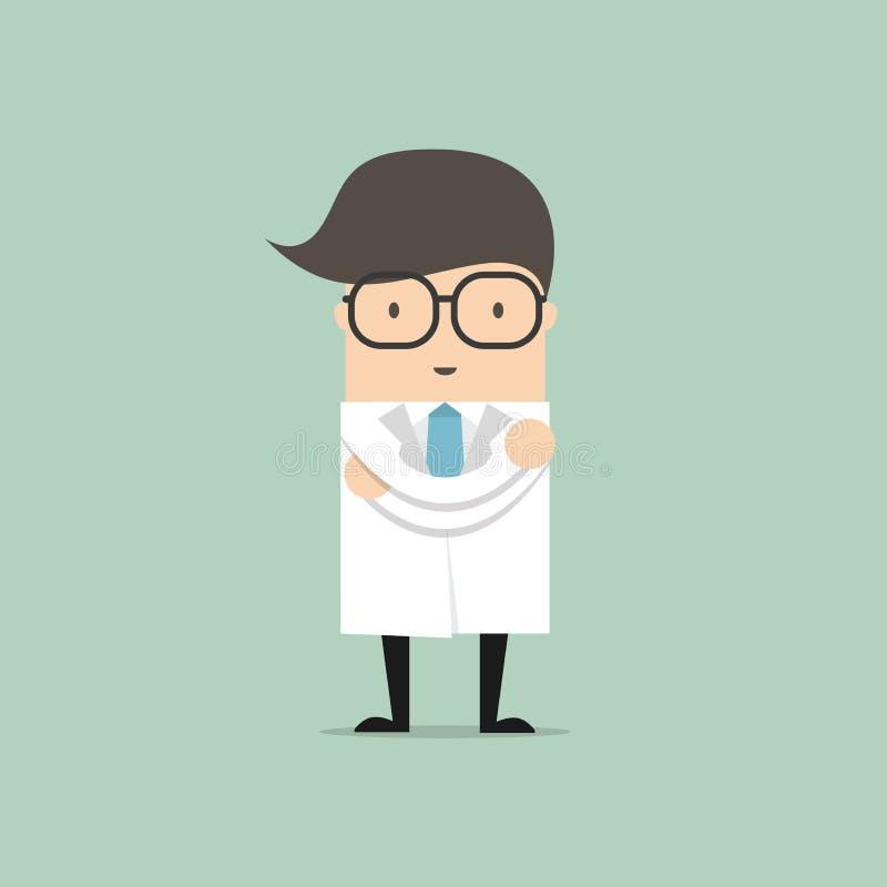 Het Karakter van het Beeldverhaal van de arts Vector stock illustratie