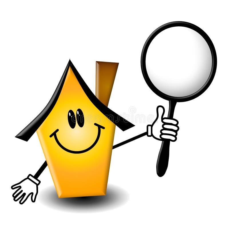 Het Karakter van het Beeldverhaal van de Inspectie van het huis stock illustratie