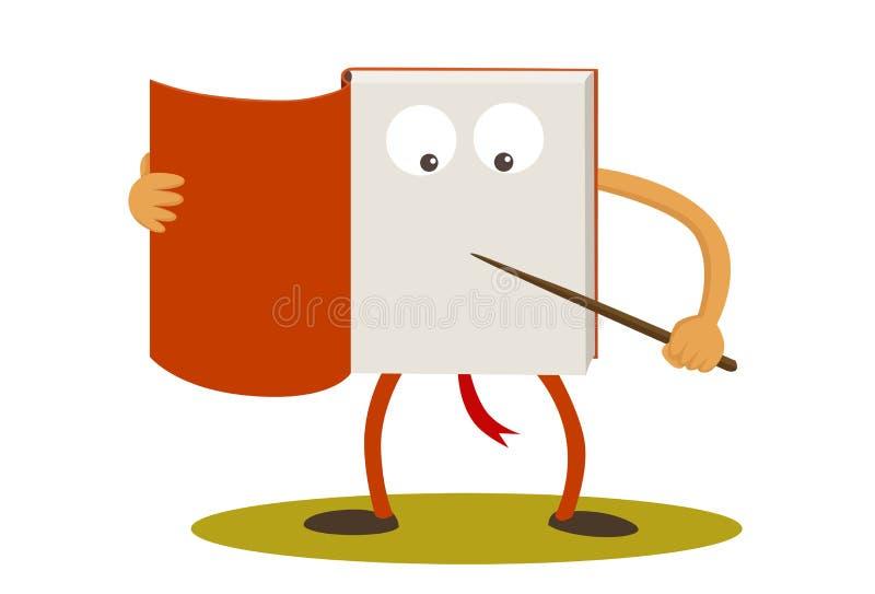 Het karakter van het boekbeeldverhaal royalty-vrije illustratie