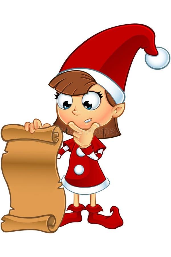 Het Karakter van het meisjeself in Rood stock foto