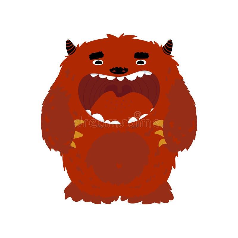 Het karakter van het monster royalty-vrije illustratie