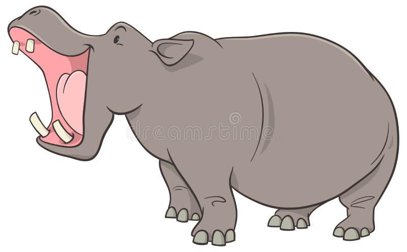 Het karakter van het nijlpaardbeeldverhaal stock illustratie