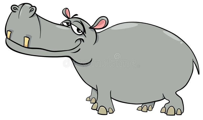 Het karakter van het nijlpaardbeeldverhaal royalty-vrije illustratie