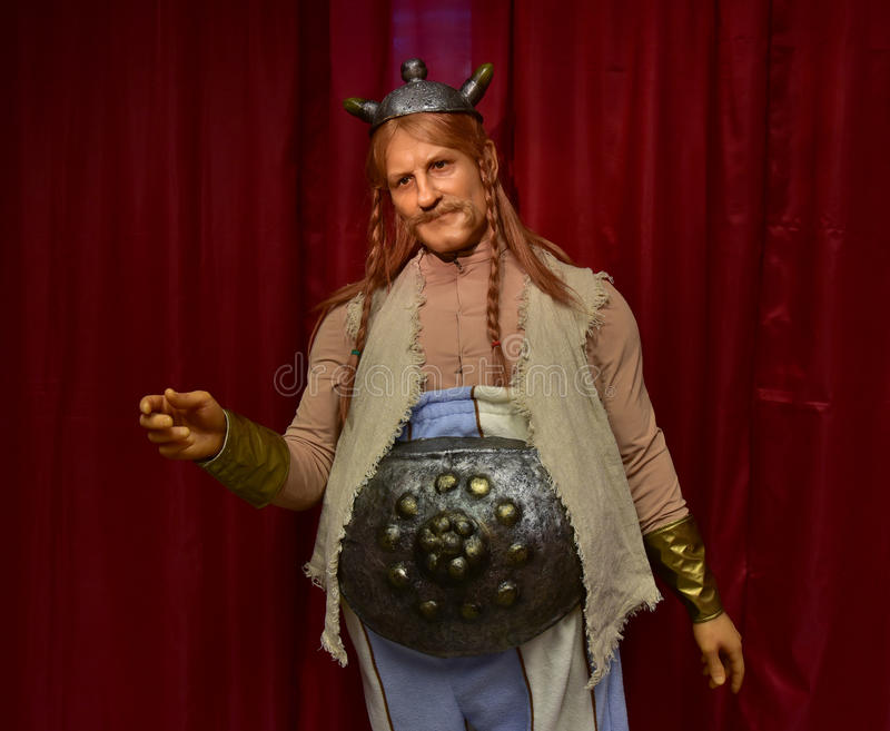 Het karakter van het Obelixbeeldverhaal royalty-vrije stock foto's