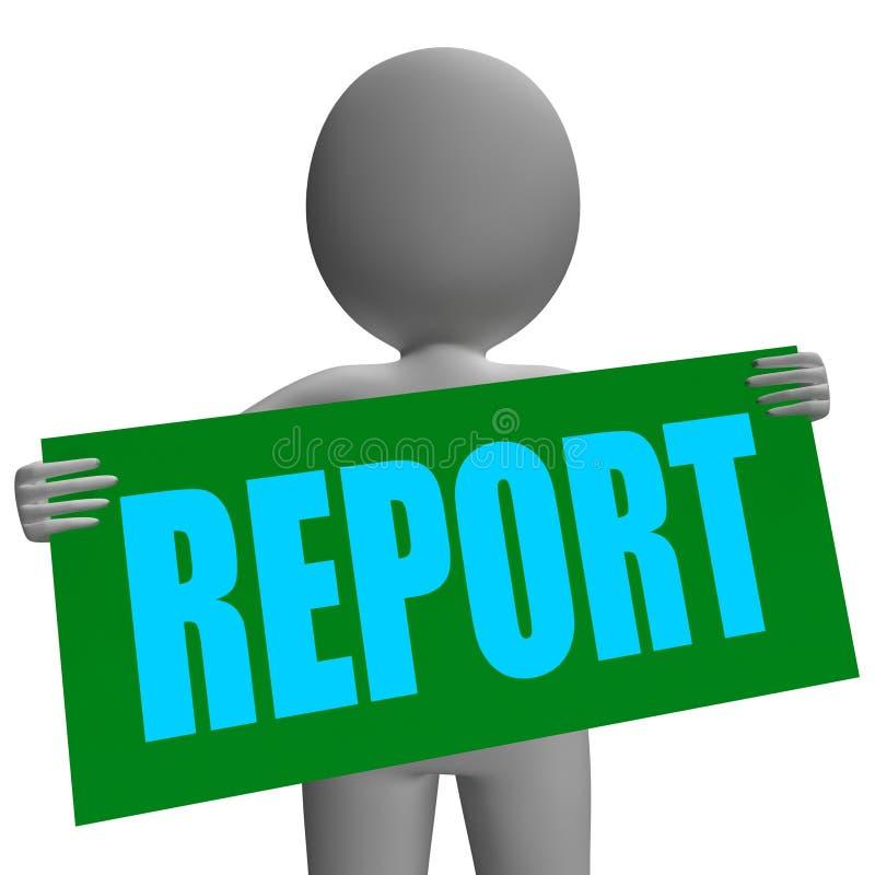 Het Karakter van het rapportteken toont Collectieve Financieel stock illustratie