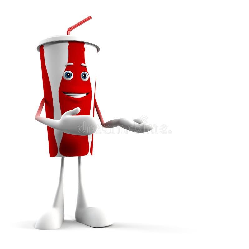Het karakter van het voedsel - kolakop royalty-vrije illustratie