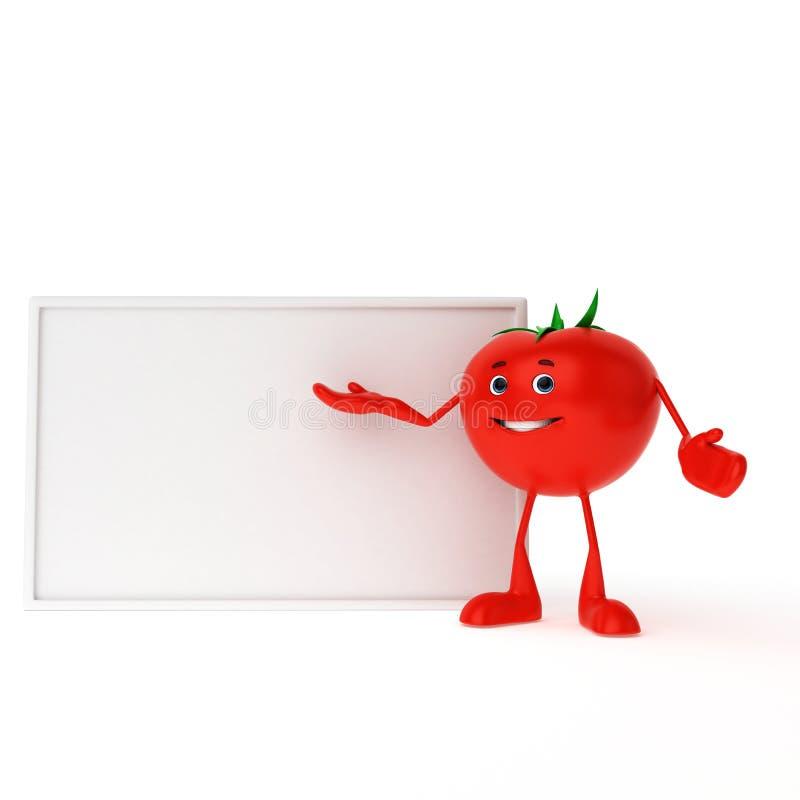 Het karakter van het voedsel - tomaat stock illustratie