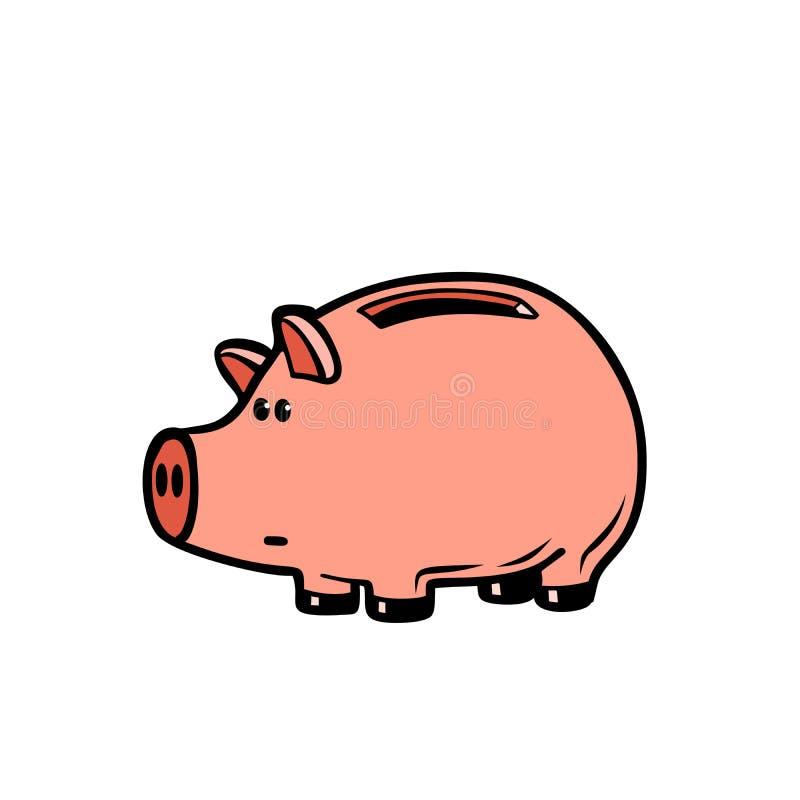 Het karakter van het spaarvarken stock illustratie