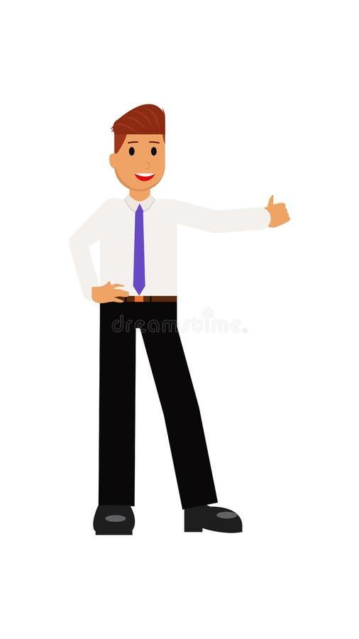 Het karakter vectorillustratie van het bedrijfsmensenbeeldverhaal vector illustratie