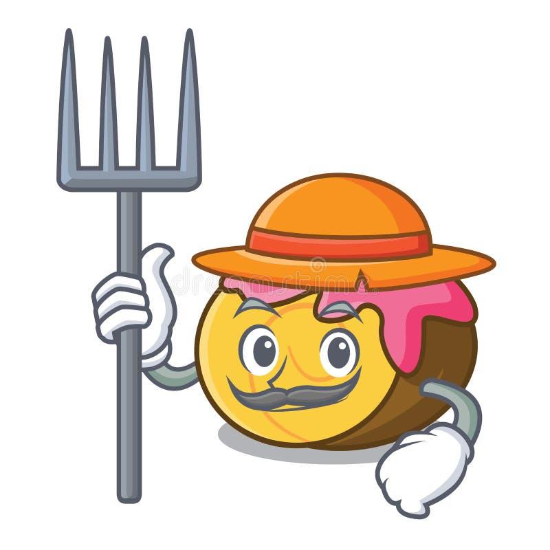 Het karakterbeeldverhaal van het landbouwers koninginnenbrood vector illustratie