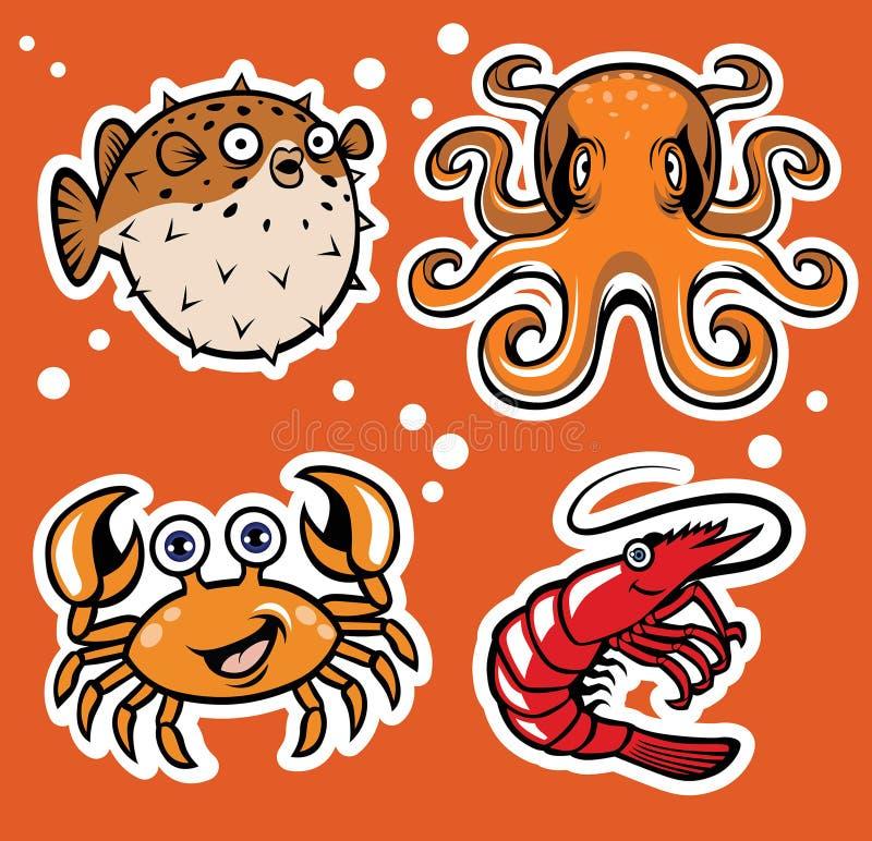 Het karakterpak van het Sealifebeeldverhaal vector illustratie
