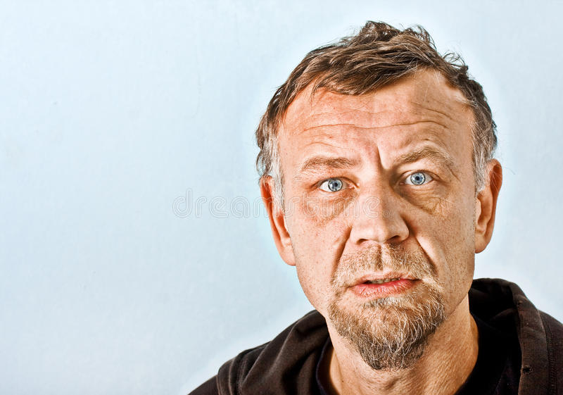 Het karakterportret van de close-up van een mens royalty-vrije stock afbeeldingen