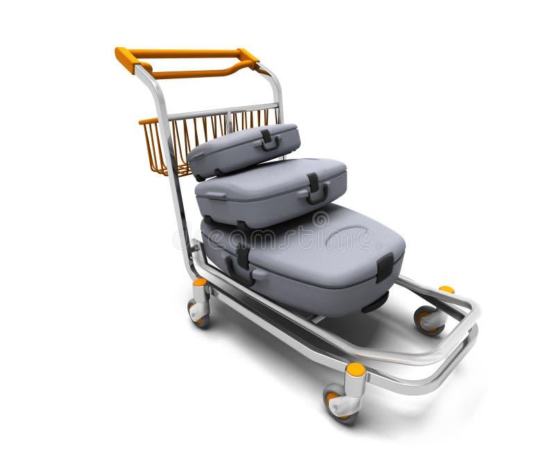 Het karretje van de bagage vector illustratie